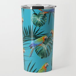 Parrots in the Tropical Jungle #2 #tropical #decor #art #society6 Travel Mug