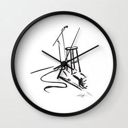 Open Mic by Kathy Morton Stanion Wall Clock
