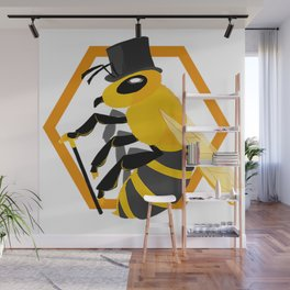 Bee Fancy Wall Mural
