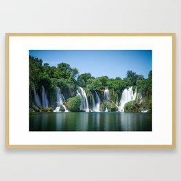 Kravica waterfall in Bosnia and Herzegovina Framed Art Print