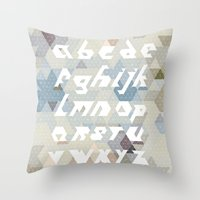 alphabet Throw Pillows featuring Alphabet by Lin Oosterhoff