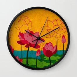 Flowers: lotus Wall Clock