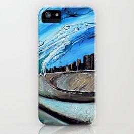 Chicago Through Wave iPhone Case