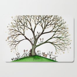 Bull Terriers Whimsical Dogs in Tree Cutting Board