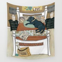 lab Wall Tapestries featuring Adore My Lab by Jamie Morath Art