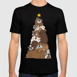 Christmas Tree English Bulldog T-shirt