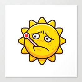 Fever Sun Canvas Print