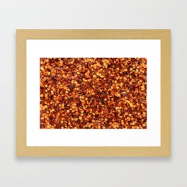 Crushed chilli peppers Framed Art Print