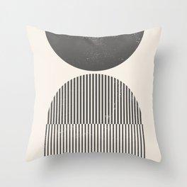 Mid Century Modern Print - Abstract Arch Print, Woodblock Style Rainbow Arch Prints Wall Art, Geomet Throw Pillow