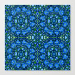Peacock Pattern Canvas Print