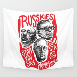 Russkies-Russian composers Wall Tapestry