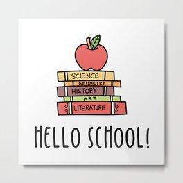 Back to School Homeschooling Homeschool Metal Print