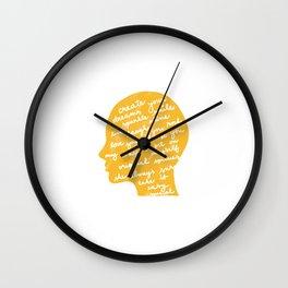 Head profile with positive attitude Wall Clock