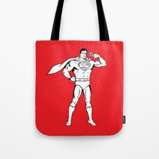 Faster Than A Speeding Bullet Tote Bag