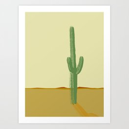 The Lonely Cactus - Summer Art Print