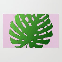 Palm Tree Leaf Art Print Rug