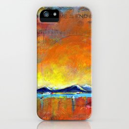 When you come to the end of the day iPhone Case