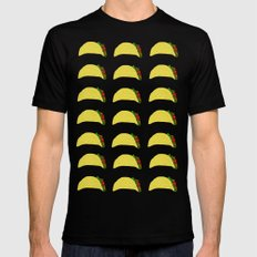 Taco Party Black MEDIUM Mens Fitted Tee