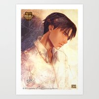snk Art Prints featuring SNK - Levi by T.Wolv