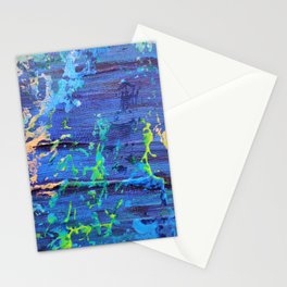 Splash Down - Acrylic Abstract Expressionist Artwork Stationery Cards