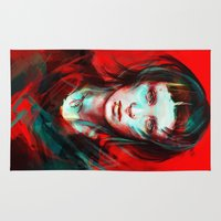 large Area & Throw Rugs featuring Wasp by Alice X. Zhang