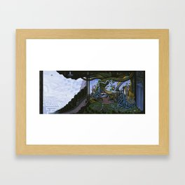 Existing Only In The Light Framed Art Print