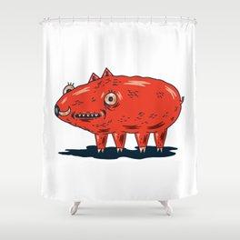 Haifa Pig Shower Curtain