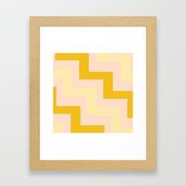Chevron diagonal 90s Framed Art Print