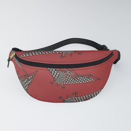 Pterosauria red Fanny Pack