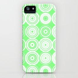 Green circles iPhone Case