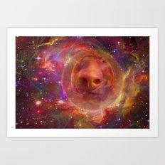 Astro Dog Art Print