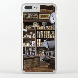 Vintage General Store Clear iPhone Case