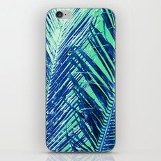 Tropical Palm Blue iPhone & iPod Skin