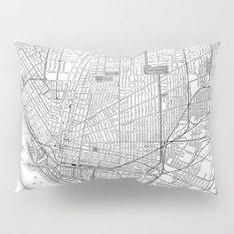 Vintage Map of Buffalo New York (1891) BW Pillow Sham