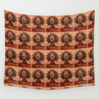 big lebowski Wall Tapestries featuring Lebowski Pop by Guido prussia