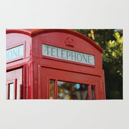 London Telephone Box Rug