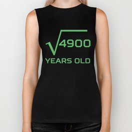 Square Root Of 4900 Funny 70 Years Old 70th Birthday Biker Tank