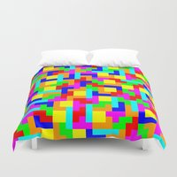 tetris Duvet Covers featuring Tetris by tonilara