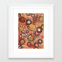 brown Framed Art Prints featuring brown by Mojca G. Vesel