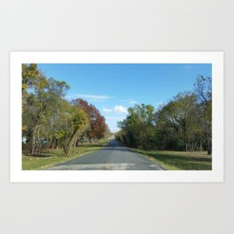 A Peaceful Drive  Art Print