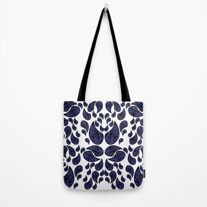 Paisley purple and teal Tote Bag