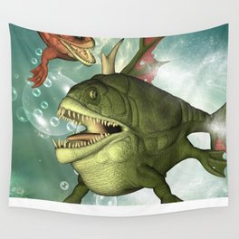 Armour fish Wall Tapestry