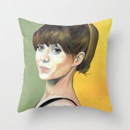 Cristin Milioti in oil Throw Pillow