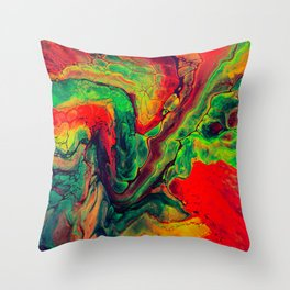 Abstract Fluorescent Painting Throw Pillow