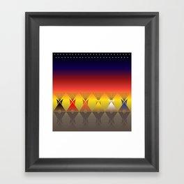Night Tipi Framed Art Print