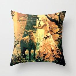Feral Strings Throw Pillow