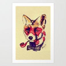 Vintage Fox Art Print