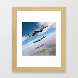 BEAUTIFUL AIRPLANE FORMATION Framed Art Print