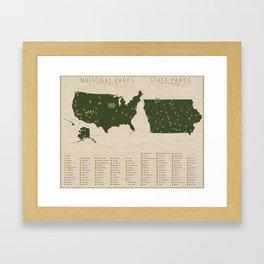 US National Parks - Iowa Framed Art Print