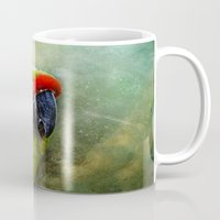 parrot Mugs featuring parrot by lucyliu